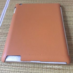 'LEVENGER' MORGAN TAN LEATHER IPAD CASE FITS 2/3/4